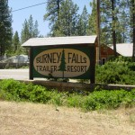 Burney Fall Trailer Resort Sign