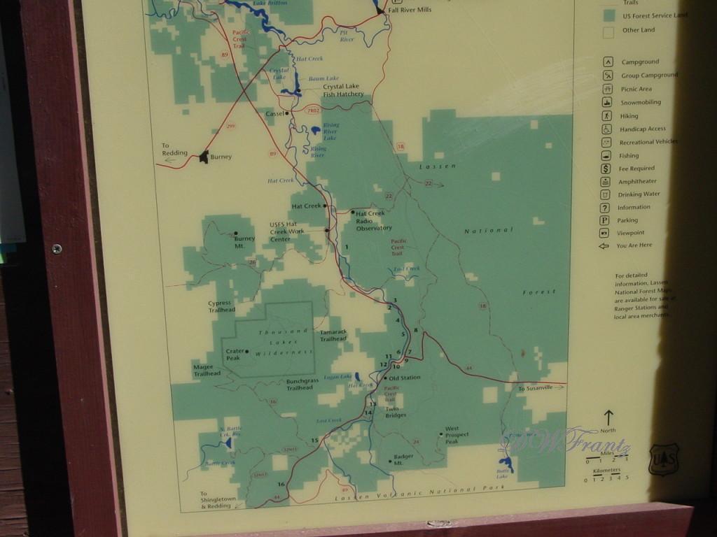 Hat Creek Map